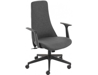70% off Fontaine Gray High-Back Swivel Office Chair (7C767)