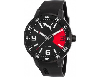 71% off Puma Ion Plated Stainless Steel Red Accents Men's Watch