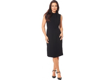82% off Sharagano Sleeveless Tie Neck Crepe Sheath Dress