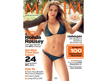 90% off Maxim Magazine Annual Subscription $4.99 / 10 Issues
