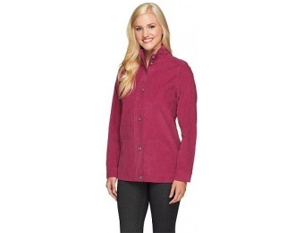 81% off Corduroy Zip Front Utility Jacket with Pockets