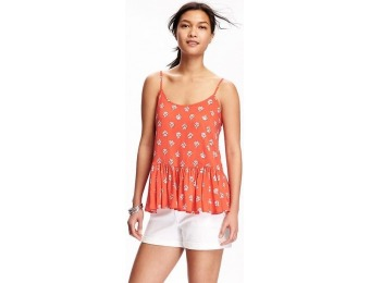 88% off Old Navy Printed Peplum Swing Cami For Women