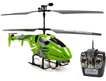 $114 off World Tech Toys Gyro Raptor-X 3.5CH RTR RC Helicopter