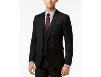 81% off Bar III Black Solid Extra Slim-Fit Jacket