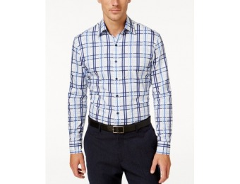 85% off Tasso Elba Men's Big and Tall Plaid Long-Sleeve Shirt