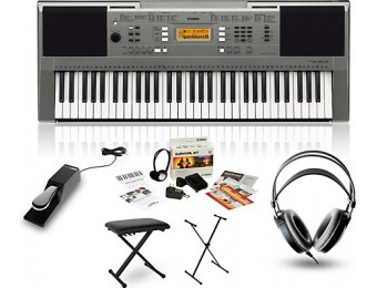 62% off Yamaha Psre353 With M80 Mkii, Bench, Stand & Sustain Pedal
