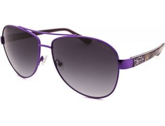 74% off Guess Women's Aviator Purple Sunglasses