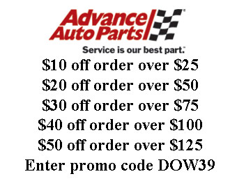 Advance Auto Parts Coupon - Up to $50 off w/code: DOW39