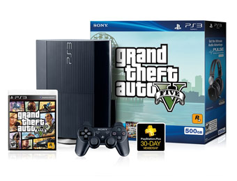 $40 off PS3 500GB Grand Theft Auto V Bundle, Limited Quantity
