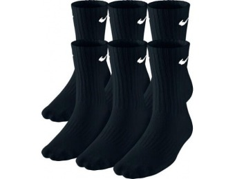 25% off Nike Band Cotton Crew 6-Pack Kids Socks