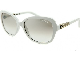 81% off Guess Women's Butterfly White Sunglasses