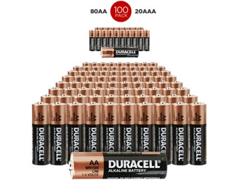 $50 off 100-Pack: 80 AA & 20 AAA Duracell Batteries