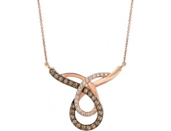 78% off Le Vian Chocolate and White Loop Pendant Necklace