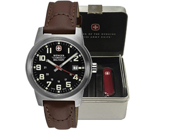 Wenger Men's Watch / Swiss Army Knife Gift Set Deal