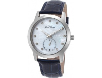 97% off Lucien Piccard Noureddine Leather MOP Dial Watch