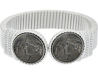 79% off Judith Ripka Sterling Verona Coin Tubogas Cuff Bracelet