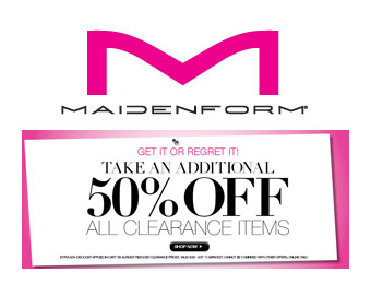 Extra 50% off All Clearance Items at Maidenform