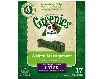48% off Greenies Weight Management Dental Large Dog Treats