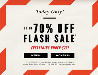 PacSun Flash Sale, Up to 70% off, Everything Under $20