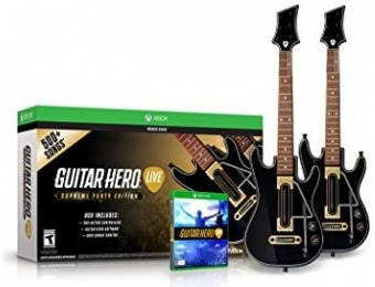 46% off Guitar Hero Live Supreme Party Edition 2 Pack Bundle Xbox