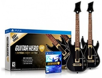46% off Guitar Hero Live Supreme Party Edition 2 Pack Bundle PS4