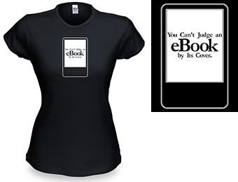 93% off Can't Judge an eBook by Its Cover Babydoll T-shirt