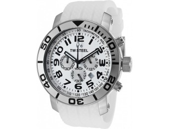 84% off TW Steel TW95 Men's Grandeur Chrono White Watch