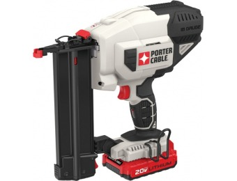 $50 off PORTER-CABLE 18-Gauge 20V Brad Cordless Nailer w/ Battery