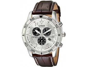 67% off Citizen Stainless Steel Eco-Drive Watch with Leather Band