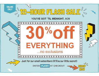 Old Navy 12 Hour Flash Sale - 30% off Everything