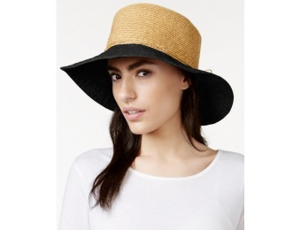 87% off Nine West Canvas and Straw Floppy Hat