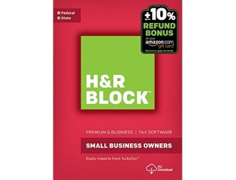 50% off H&R Block Tax Software Premium & Business 2016 Win
