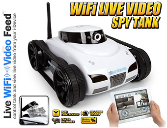 65% off Live Video WiFi Control Electric RTR i-Spy Tank