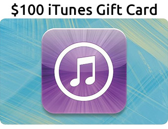 $15 off $100 Apple iTunes Gift Card