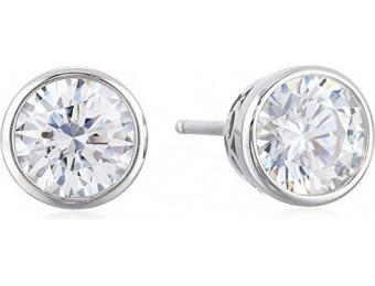 75% off Platinum-Plated Sterling Silver Swarovski Stud Earrings