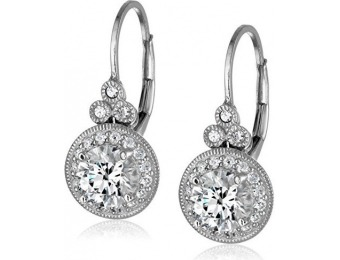 79% off Platinum-Plated Sterling Silver Swarovski Antique Earrings