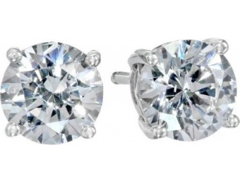 81% off Platinum-Plated Sterling Silver Swarovski Stud Earrings