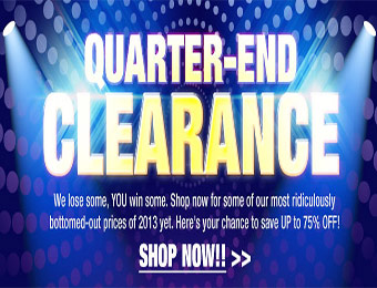 Quarter-End Newegg Clearance Sale - Up to 75% off!