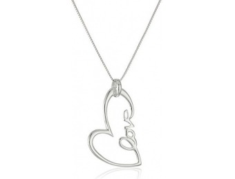 "95% off Sterling Silver ""Love"" Open Heart Pendant Necklace, 18"""
