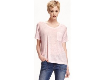 82% off Old Navy Boyfriend Linen Blend Tee For Women