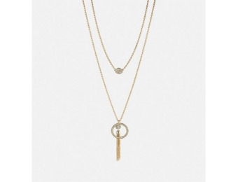 81% off Avenue Layered Stone Tassel Necklace