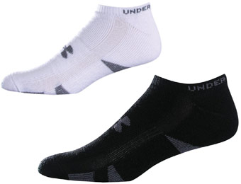 49% off Under Armour HeatGear Trainer No Show Socks, 4-Pack