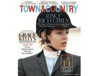 92% off Town & Country Magazine - 6 month auto-renewal