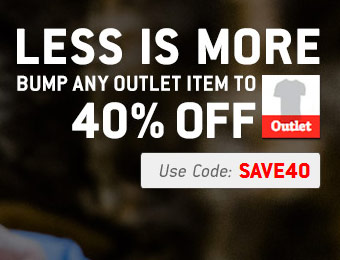 40% off Any Outlet Item - Apparel and Sporting Goods