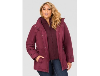 80% off Ashley Stewart Sweater Vestee Anorak Coat