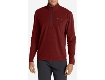 64% off Eddie Bauer Men's Quest Fleece 1/4-Zip Pullover