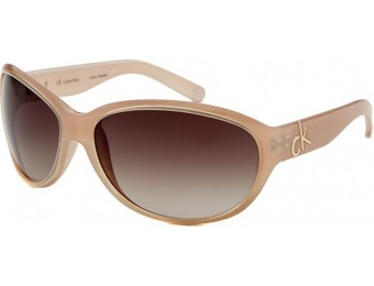 85% off Calvin Klein Women's Oval Light Pink Sunglasses