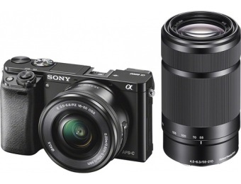 $350 off Sony Alpha a6000 Mirrorless Camera with Lenses