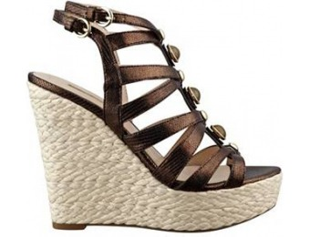 74% off Guess Onixx Metallic Caged Wedges