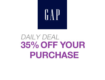 Gap Daily Deal - Save an Extra 35% off Your Purchase
